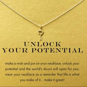 Jewelry - Unlock Your Potential Gold Key Pendant Necklace